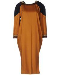 Frankie Morello Knee-length Dress - Brown