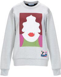 Prada Face Print Sweatshirt - Gray