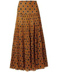 Johanna Ortiz Long Skirt - Brown