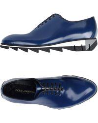 Dolce & Gabbana Schnürschuh - Blau