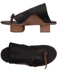 Uma Wang Toe Strap Sandal - Black