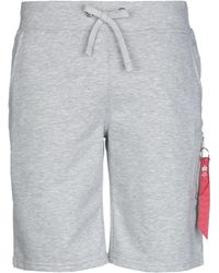 Alpha Industries Shorts & Bermuda Shorts - Grey