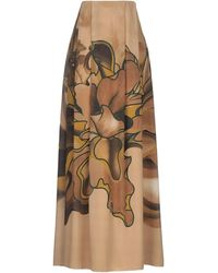 Alberta Ferretti Long Skirt - Multicolour