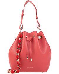 Mother Of Pearl Handbag - Red