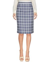 Shirtaporter Knee Length Skirt - Blue