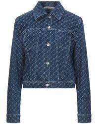 Stella McCartney Manteau en jean - Bleu
