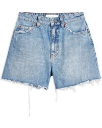 TOPSHOP Denim Shorts - Blue