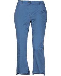 Another Label Pantalone capri - Blu