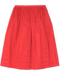Uma Wang Midi Skirt - Red