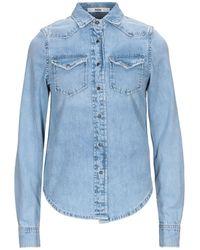 ..,merci Camicia jeans - Blu