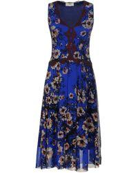 Fuzzi Knee-length Dress - Blue