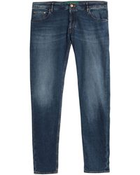 Hand Picked Denim Trousers - Blue