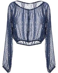 LoveShackFancy Camicia - Blu