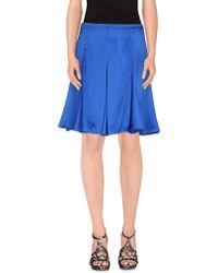 Ean 13 Knee Length Skirt - Blue