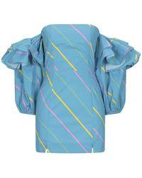 ROTATE BIRGER CHRISTENSEN Short Dress - Blue