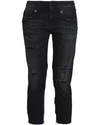 R13 Denim Capris - Black