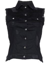 Philipp Plein Denim Outerwear - Black