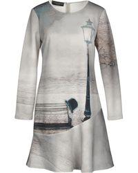 Cristina Gavioli Collection Short Dress - Grey