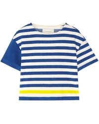 Solid & Striped T-shirt - Blue