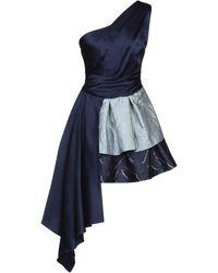 Christian Pellizzari Kurzes Kleid - Blau