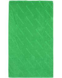 Balenciaga Beach Towel - Green