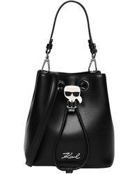 Karl Lagerfeld Ikonik Bucket Bag Black