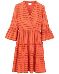 Vila Short Dress - Orange