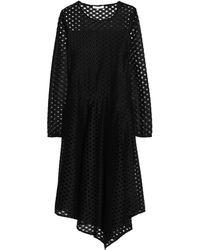 Maje Knielanges Kleid - Schwarz