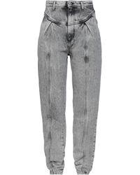 Chiara Ferragni Pantalon en jean - Gris