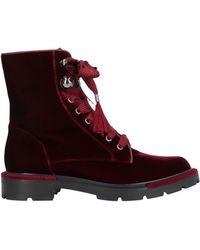 Giorgio Armani Ankle Boots - Red