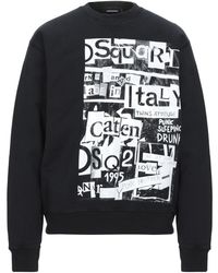 DSquared² Men's Cool Fit Disco Punk Sweatshirt - Black