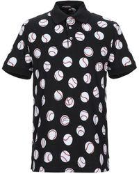 Love Moschino Baseball Print Polo Shirt - Black
