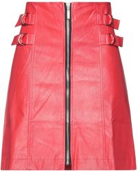 Odi Et Amo Midi Skirt - Red