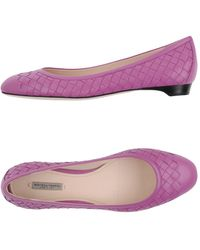 Bottega Veneta Ballet Flats - Purple