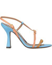 L'Autre Chose Leather High Heel Sandal - Multicolour