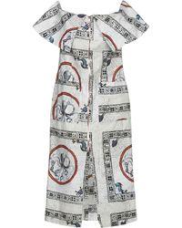 Tata Naka 3/4 Length Dress - Grey
