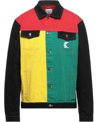 Karlkani Manteau en jean - Rouge