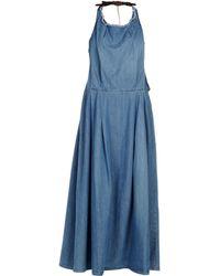 2W2M Long Dress - Blue