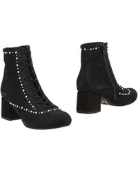 Sgn Giancarlo Paoli Ankle Boots - Black