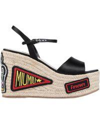 Miu Miu - Sandals - Lyst
