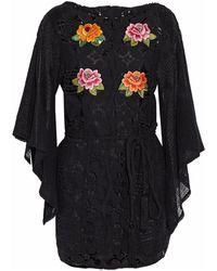 Miguelina Short Dress - Black