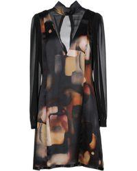 Manila Grace Short Dress - Black
