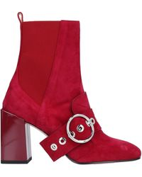 Salar Ankle Boots - Red