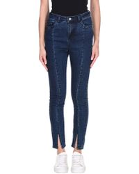 NA-KD Denim Trousers - Blue