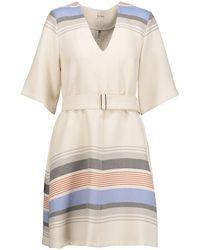 SUNO Short Dress - White
