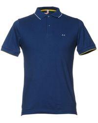 Sun 68 Polo Shirt - Blue
