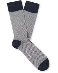 Oliver Spencer Short Socks - Blue