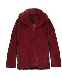 Diane von Furstenberg Faux Fur - Red
