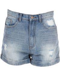 WEILI ZHENG Denim Shorts - Blue