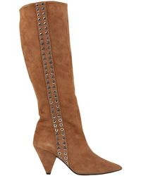 Wo Milano Knee Boots - Brown